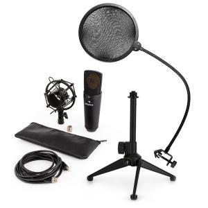 auna MIC-920B USB kit Microphone V2 à condensateur trépied de micro anti pop