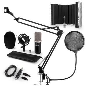 auna CM003 microphone-kit V5 microphone à condensateur convertisseur USB noir