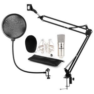 auna CM001S microphone-kit V4 micro à condensateur XLR perchette filtre anti pop