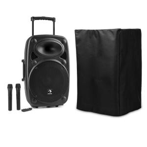auna Streetstar 15 Mobile sono housse de protection subwoofer Trolley BT USB