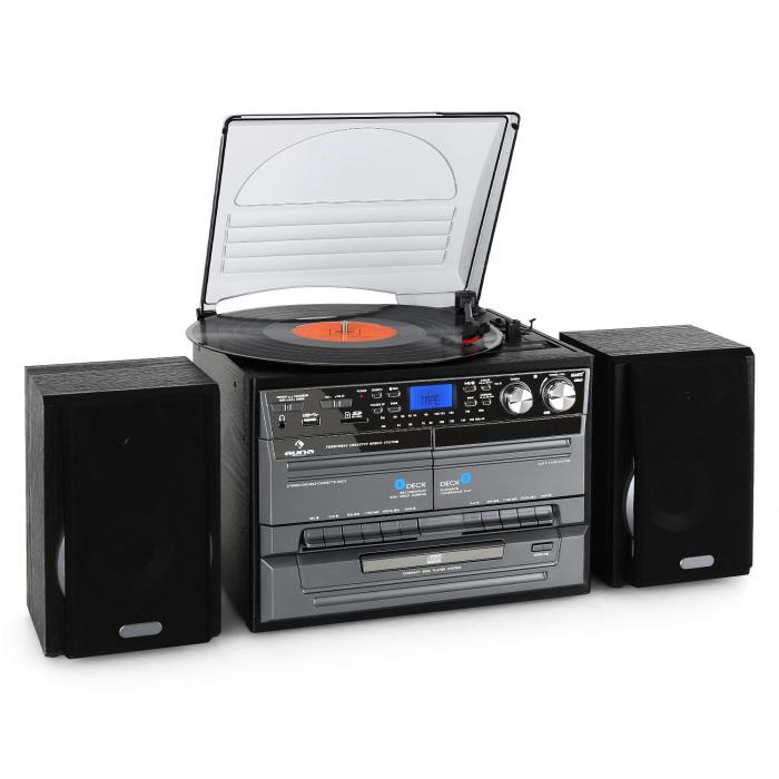 Mini chaîne HiFi CD USB platine stereo k7 encodage MP3