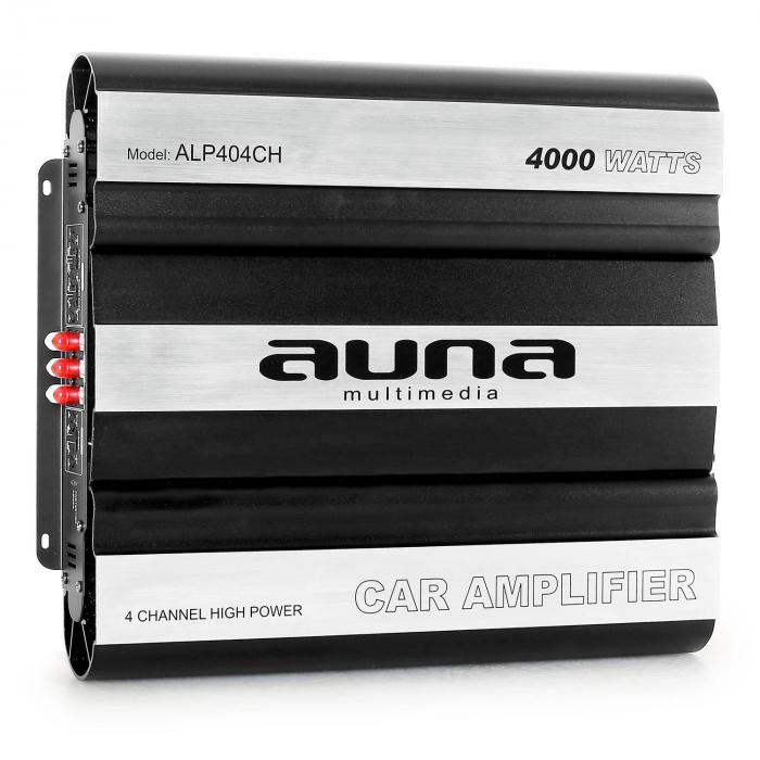 Ampli Compact Voiture 4 Canaux Mosfet 4000W Max