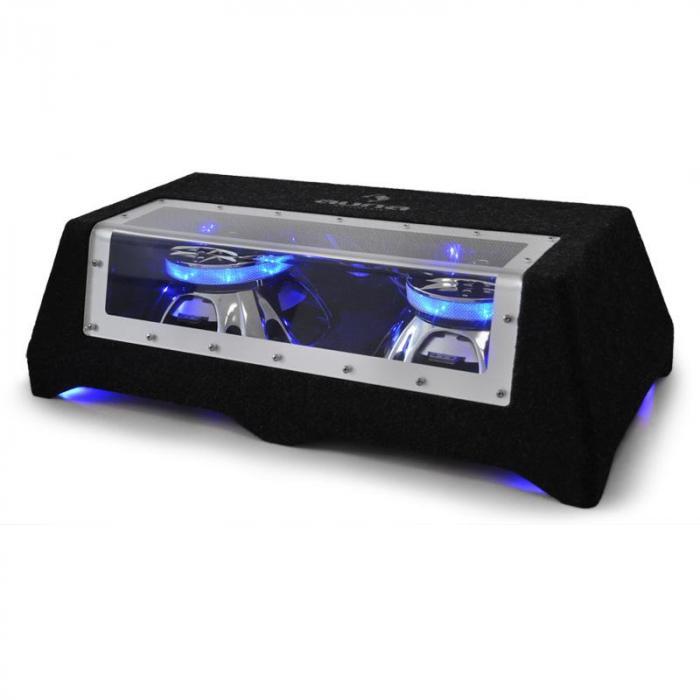 """CB250-50 2 x 25 cm (2 x 10"""") Subwoofer voiture jeu de lumière LED 2 x 600 W 25 cm (10"""")"""
