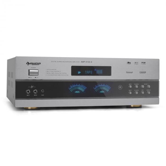 Ampli PA & récepteur radio HiFi stereo 5.1 son surround -argent