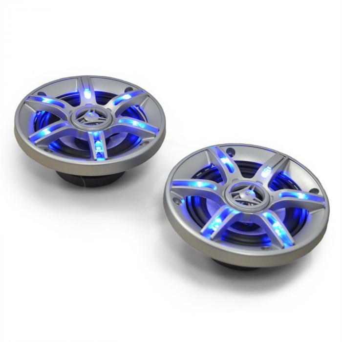 "CS-LED4 Enceinte auto 10cm 500W Effet lumineux LED 10 cm (4"")"