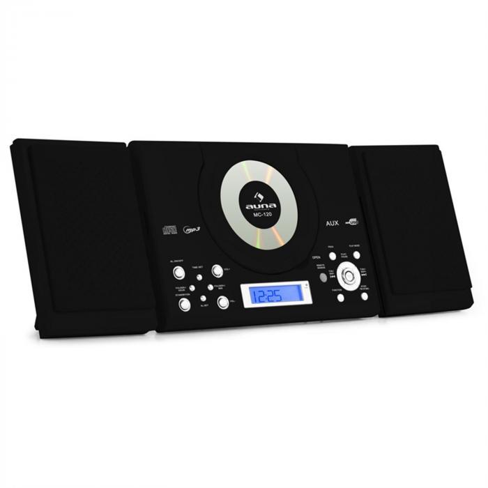 MC-120 Chaine Hifi Stéréo Lecteur MP3 CD USB Noir