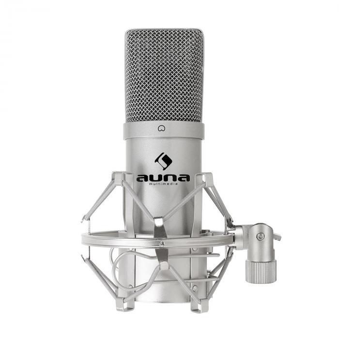 MIC-900S USB Microphone cardioide de studio à condensateur argent