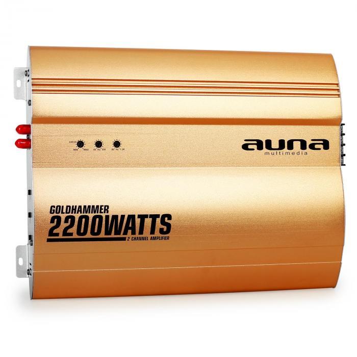 Goldhammer Ampli auto 2 canaux 2200W -doré