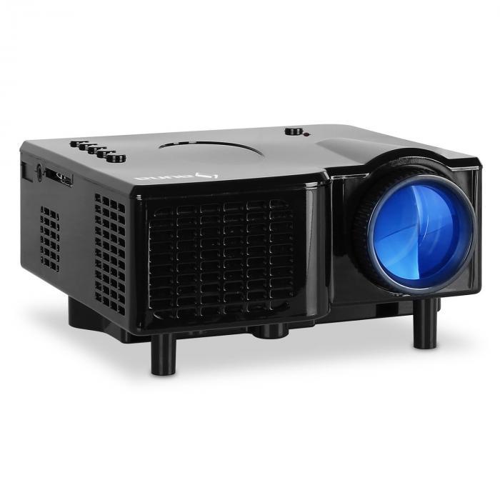 Klarstein Mini videoprojecteur LED VGA AV - noir