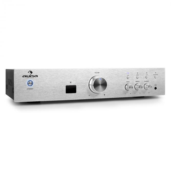 AV2-CD508BT Ampli HiFi AUX Bluetooth -argent Argent