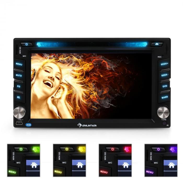 MVD-480 Autoradio DVD USB SD AUX MIC