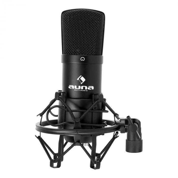 CM001B Micro condensateur voix studio XLR - noir Noir