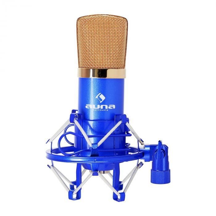CM001BG Micro condensateur voix studio XLR - bleu/or Bleu