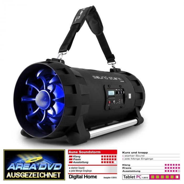 Soundstorm Enceinte Bluetooth avec batterie 2x40W RMS