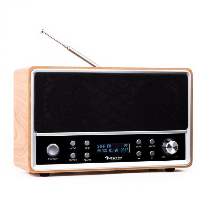 Charleston Radio numérique portable tuner DAB+ FM & RDS réveil
