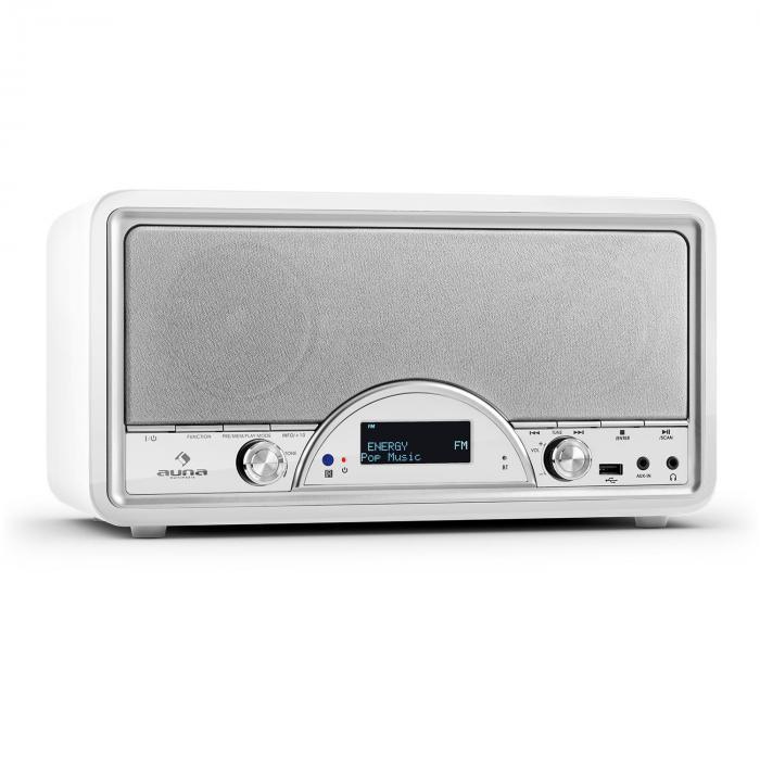 Virginia WH DAB/DAB+ Radio numérique Bluetooth USB FM AUX MP3 -Blanc