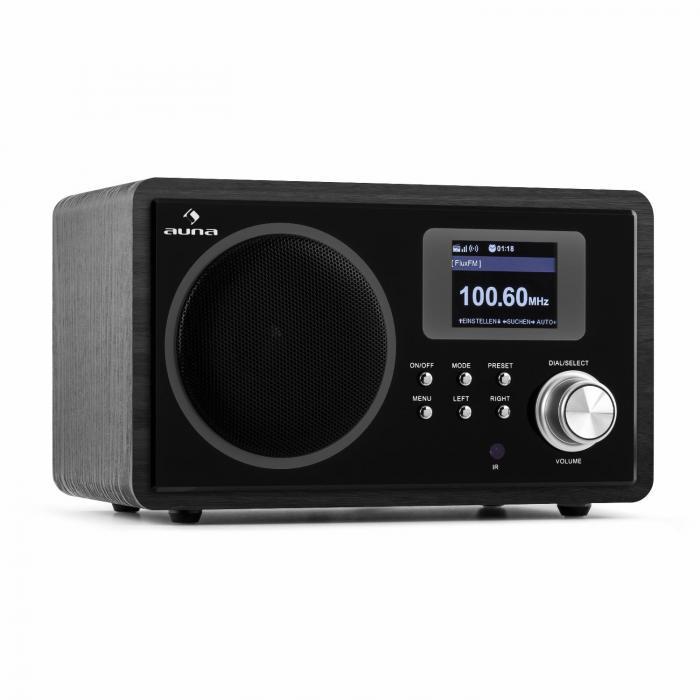 IR-150 Radio internet FM DLNA WLAN télécommande design rétrochâssis bois