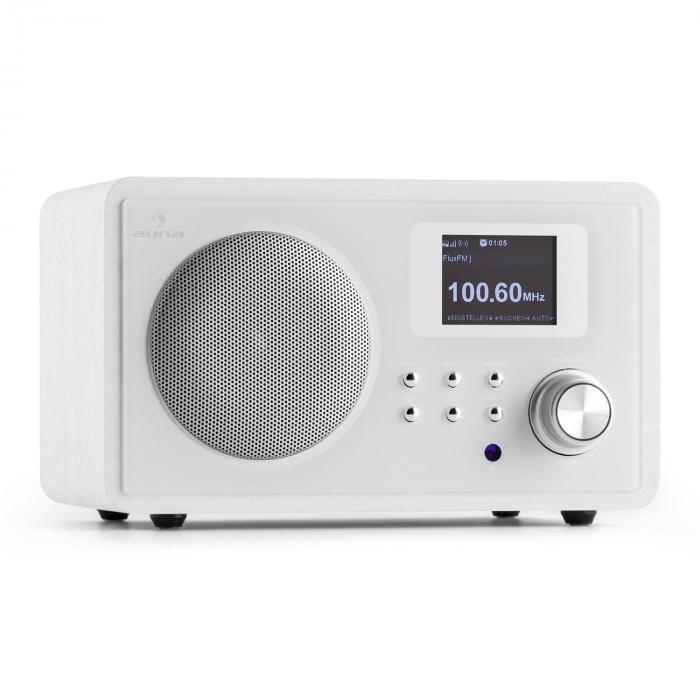 IR-150 Radio internet FM DLNA WLAN télécommande châssis bois -blanc