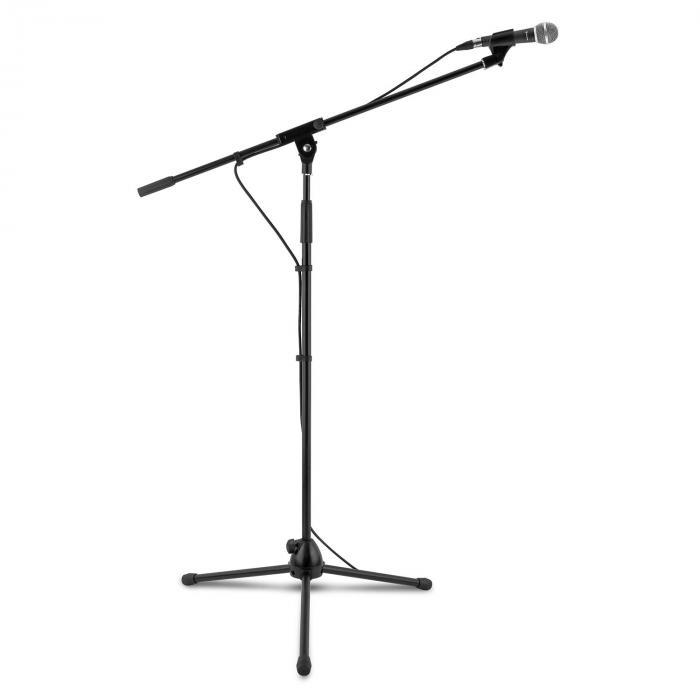 KM 02 BK Set microphone 4 pièces pied, pince, câble 5 m noir