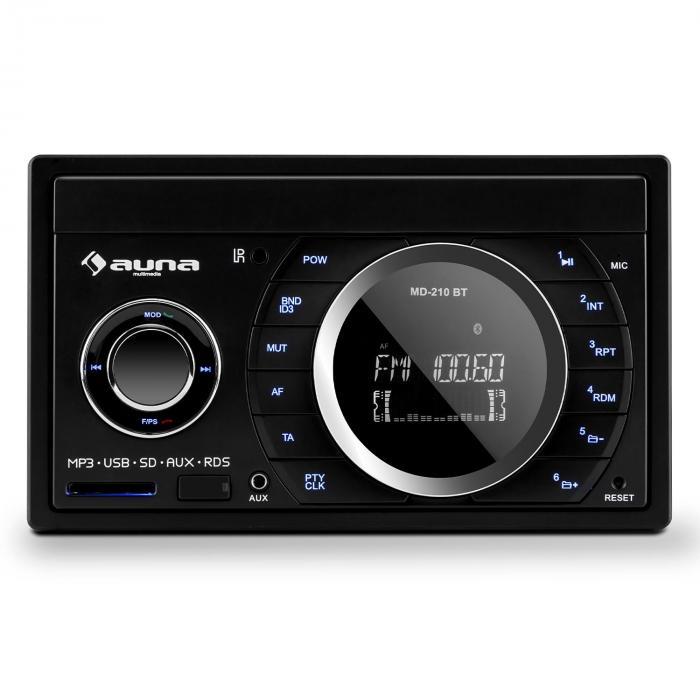 MD-210 BT Autoradio RDS Bluetooth FM USB SD MP3 AUX 2 DIN 4 x 75W