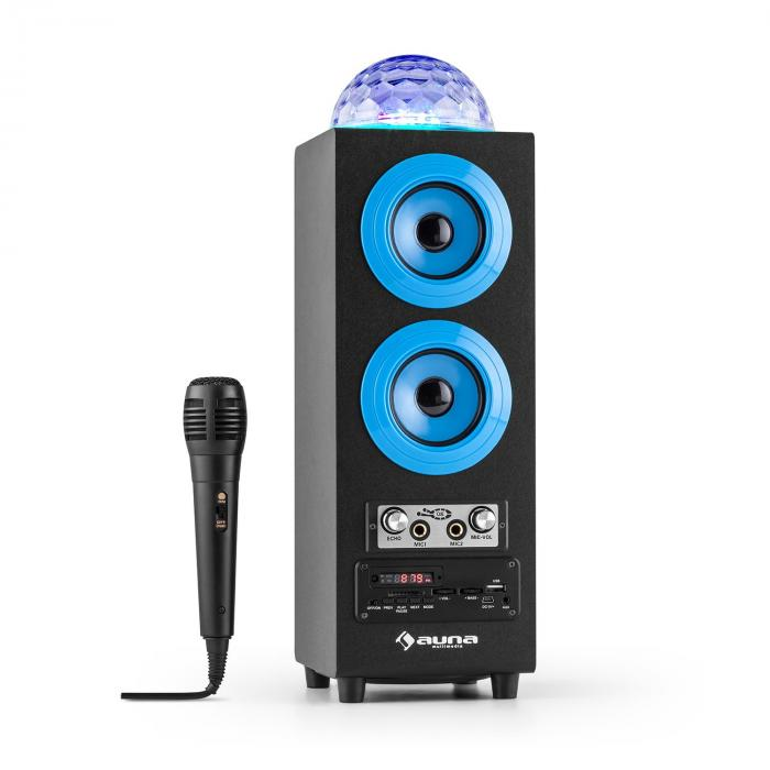 discostar blue enceinte portable bluetooth 2 1 usb sd ukw. Black Bedroom Furniture Sets. Home Design Ideas