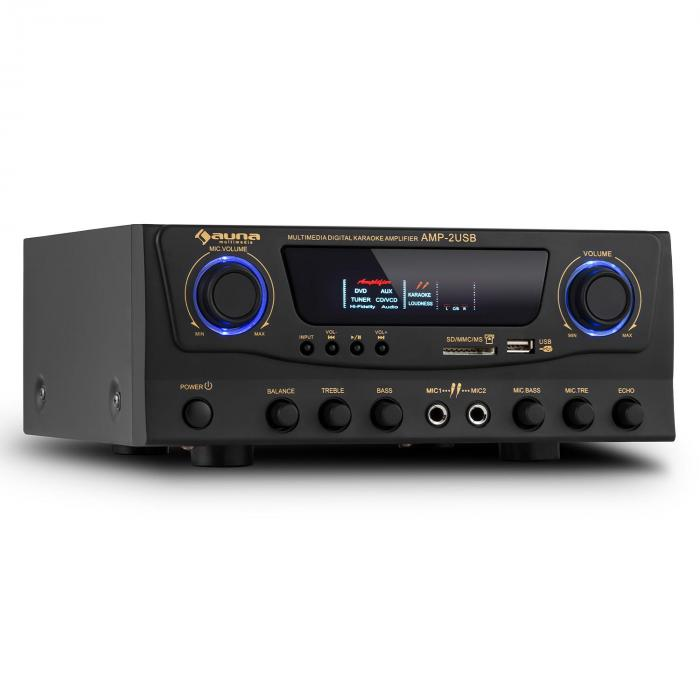 Amp-2 Ampli HiFi Karaoké 100W max. USB SD MP3