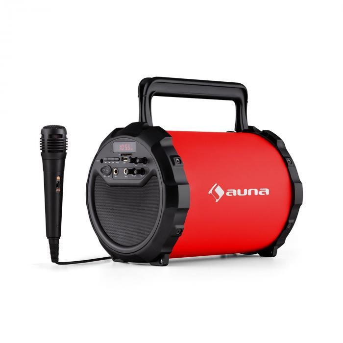 DR. Bang ! Enceinte Bluetooth 2.1 USB SD AUX Batterie Micro inclus -rouge Rouge