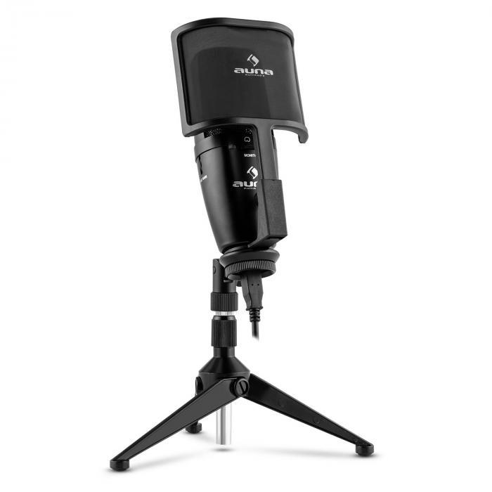 Studio-Pro Microphone USB à condensateur à large membrane+ câble