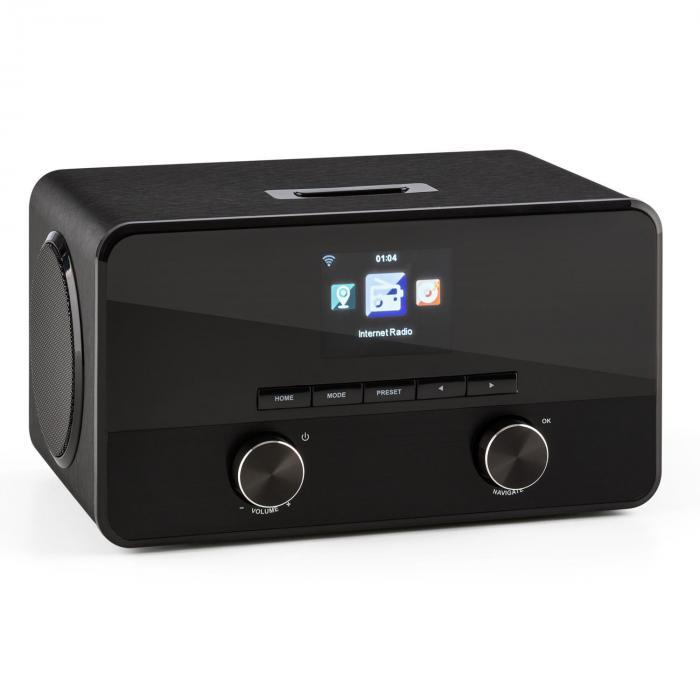 Connect 100 Radio internet Lecteur réseau Bluetooth WiFi USB MP3 AUX noire