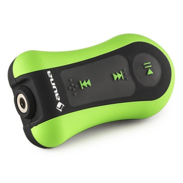 Hydro 8 Lecteur MP3 étanche 8 GB IPX-8 Clip Ecouteurs inclus - vert