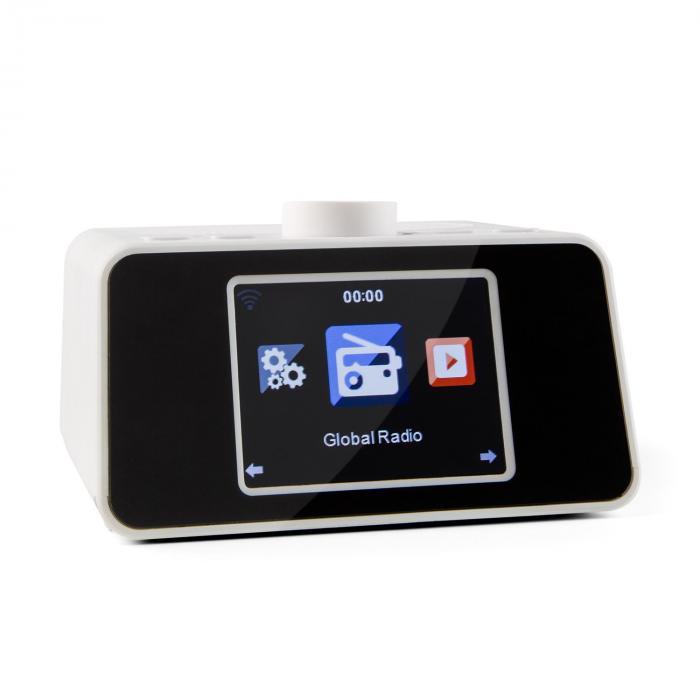 "I-Snooze Radio internet réveil USB AUX 3,2"" Ecran couleur TFT – blanc"