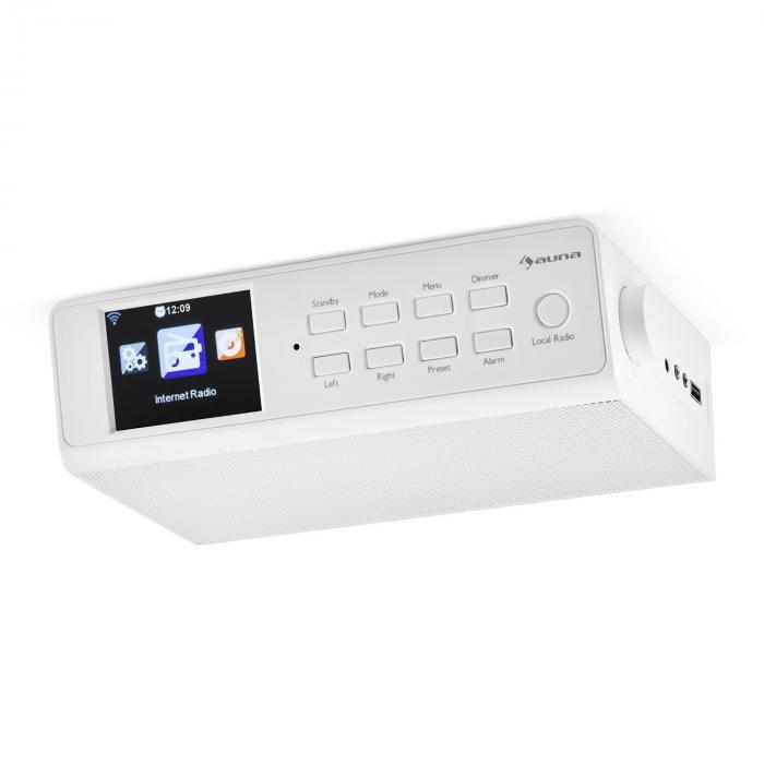 """KR-190 Radio Internet encastrable WiFi Contrôle par application 3,2"""" Ecran TFT- blanc"""