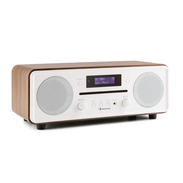 Melodia Radio lecteur CD tuner DAB+/FM Bluetooth AUX alarme snooze -marron Noir
