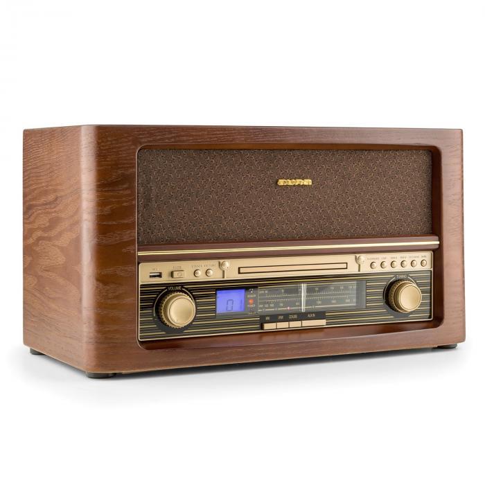 Belle Epoque 1906 Chaîne hifi rétro CD USB MP3 AUX FM/AM