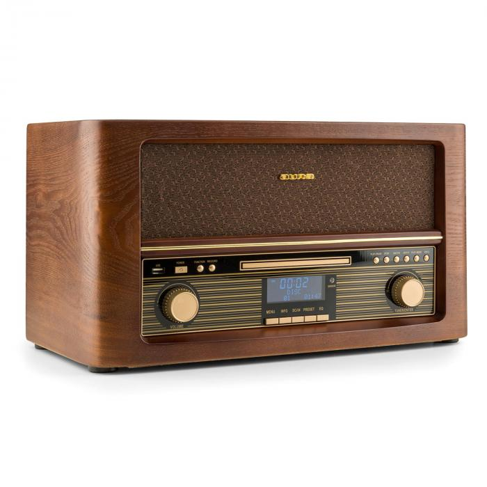 Belle Epoque 1906 DAB Chaîne hifi rétro Bluetooth CD USB MP3 FM CD-Player / Bluetooth / DAB Radio