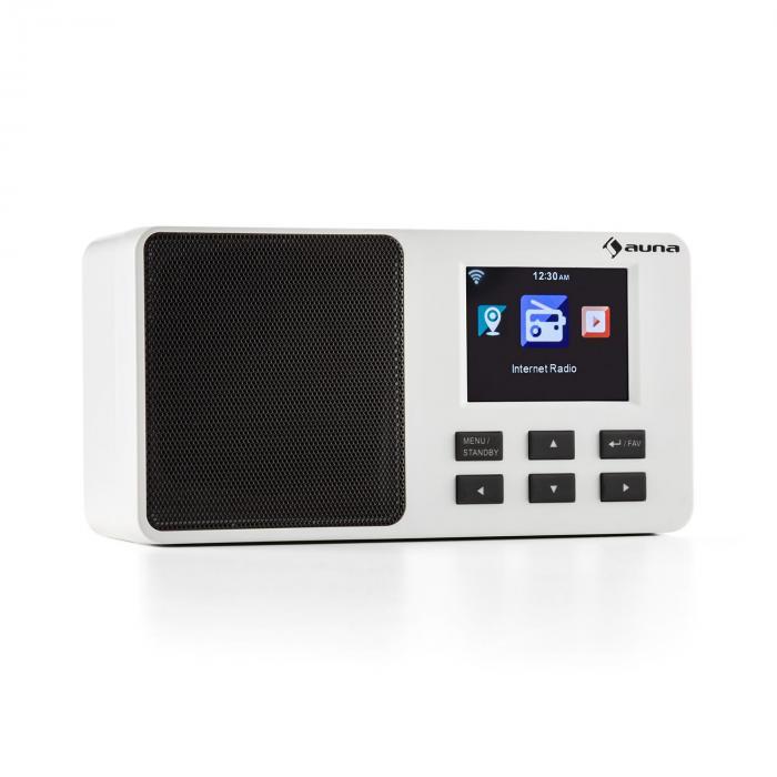 "IR-110 Radio Internet écran 3,2"" TFT menu couleur batterie WiFi USB – blanc"