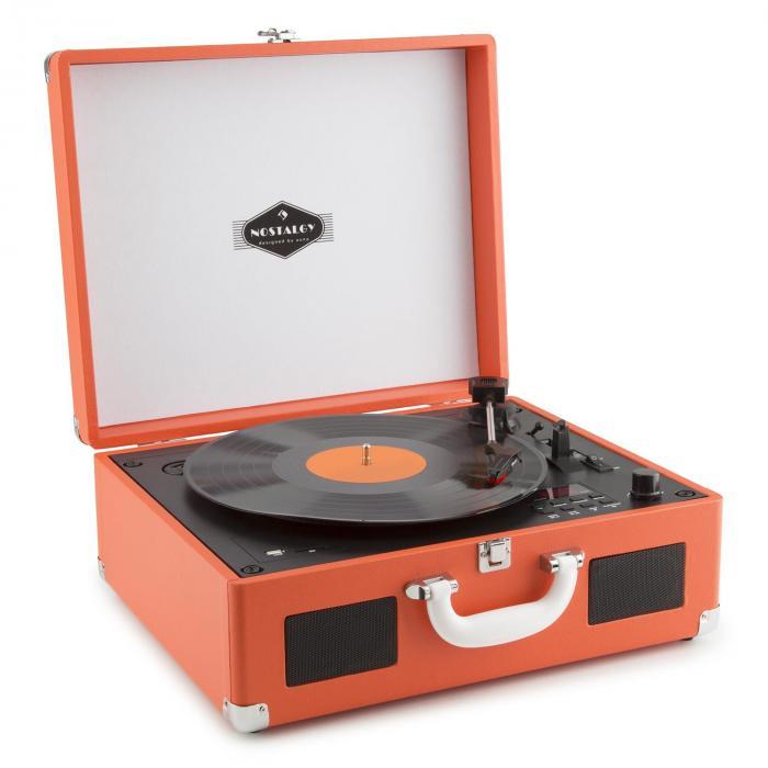 Peggy Sue CD Platine vinyle rétro & lecteur CD portable USB SD - orange Orange
