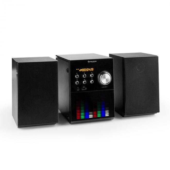 MC-200LED Micro chaîne stéréo Bluetooth CD USB MP3 FM AUX panneau LED