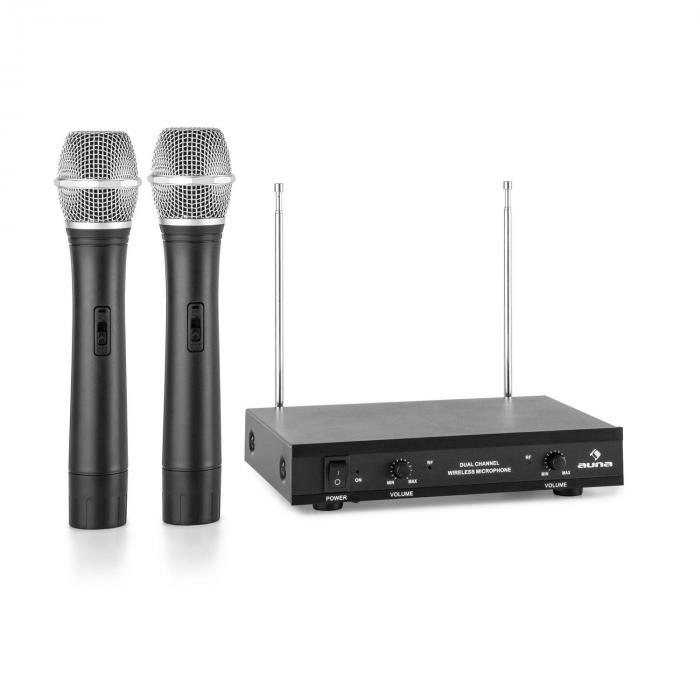 VHF-2-H Set 2x micro sans fil 2 canaux système VHF portée 50m