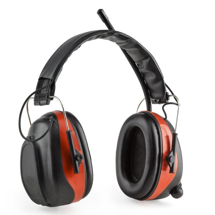 Jackhammer BT Casque antibruit Radio THF Bluetooth 4.0 AUX SNR 28dB – rouge