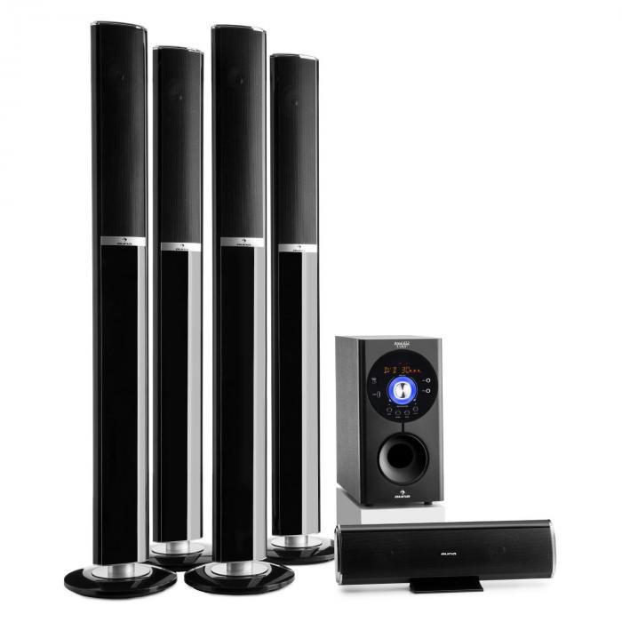 Areal 652 Système d'enceintes home cinema 5.1 Bluetooth USB SD AUX 145W
