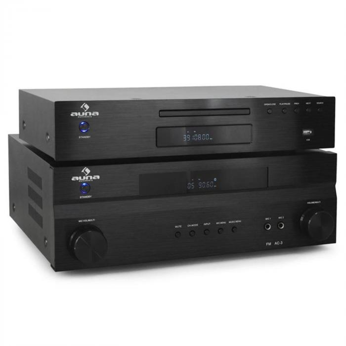 Set Hifi surround Auna Supreme Tower Amp lecteur CD