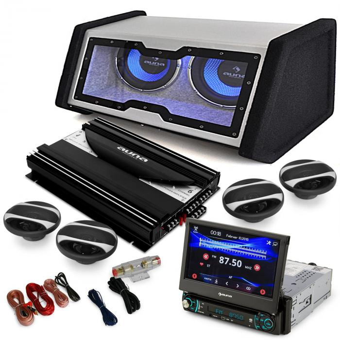 4 1 moviemedia set hifi voiture autoradio multim dia vid o enceintes ampli. Black Bedroom Furniture Sets. Home Design Ideas