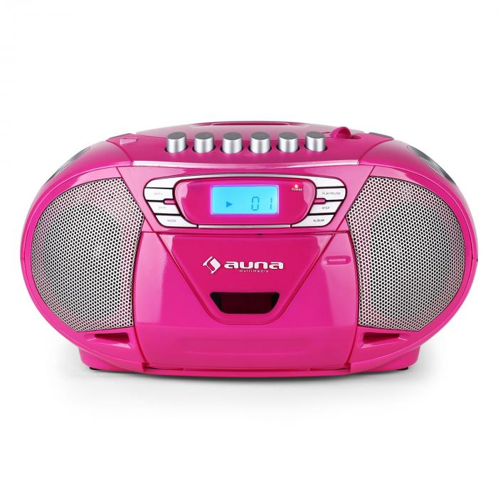 Krisskross lecteur cd k7 portable usb mp3 cd fm rose rose - Lecteur cd usb portable ...
