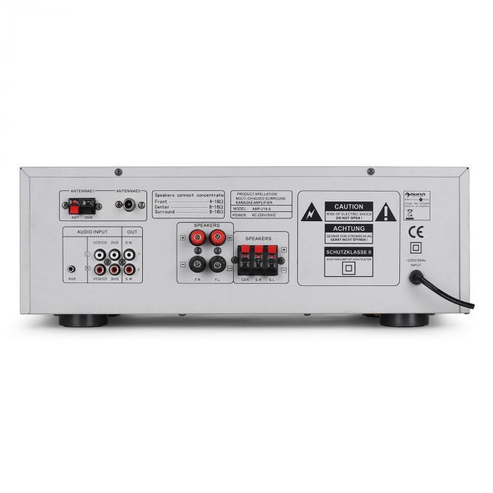 ampli hifi 5 1 home cinema karaok avec tuner radio 600w. Black Bedroom Furniture Sets. Home Design Ideas