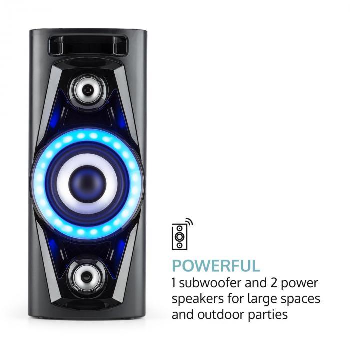 pps 35 syst me audio enceinte bluetooth 2x usb mp3 aux fm. Black Bedroom Furniture Sets. Home Design Ideas