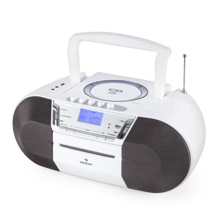 Jetpack Boombox Radiocassette Portable USB CD MP3 K7 UKW